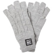 Crosshatch Men's Fishline Fingerless Gloves - Grey Marl