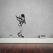 Banksy Amy Winehouse Vinyl Wall Art Decal (with Free Bansky Rat Decal)