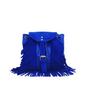 Street Level Fringe Cross Body Bag - Blue