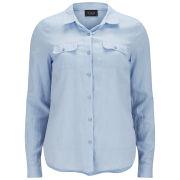 VILA Women's Vidensy Shirt - Blue Fog