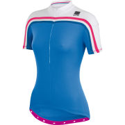 Sportful Allure Women's Short Sleeve Jersey - Blue/White