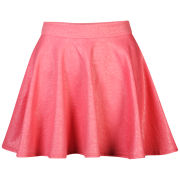 Club L Women's Embossed Skater Skirt - Coral