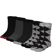 Bench Men's 5-Pack Assorted Socks - Black