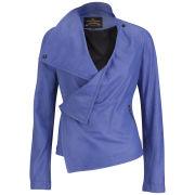 Vivienne Westwood Anglomania Women's Leather Voodoo Jacket- Cobalt