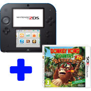 Nintendo 2DS Black & Blue: Bundle includes Donkey Country Returns 3D