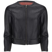 Muubaa Women's Kariba Mesh Lining Leather Jacket - Black