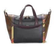 Paul Smith Accessories Women's Ziggy Leather Tote Bag - Black with Swirl Highlight