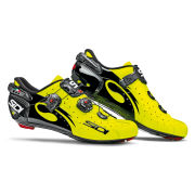 Sidi Wire Carbon Vernice Cycling Shoes - Black/Yellow Fluo  - 2015