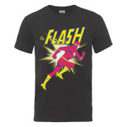 DC Comics Men's T-Shirt - Flash Running - Charcoal