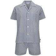 Derek Rose Men's Nelson 47 Shortie Pyjama Set - French
