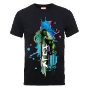 Marvel Avengers Assemble Hulk Art Burst Men's T-Shirt - Black