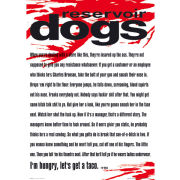 Reservoir Dogs Mr White Quote - Maxi Poster - 61 x 91.5cm
