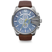 Diesel Men's Mega Chief 51mm Leather Watch - Stainless Steel