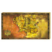 The Lord Of The Rings Classic Map - 30 x 55cm Value Canvas