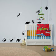 Dinosaurs Vinyl Wall Art Decal Pack for Kids and Children's Nursery (with Free Crab Decal)