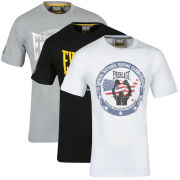Everlast Men's 3-Pack Graphic T-Shirts - White/Black/Grey Marl