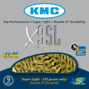 KMC X9 Super Light Chain - 116 Links - Gold