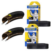 Continental Grand Prix 4000S II Clincher Road Tyre Twin Pack with 2 Free Tubes - Black - 700C x 25mm