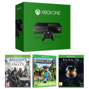 Xbox One Console - Includes Assassins Creed Unity, Halo: Masterchief Collection & Minecraft