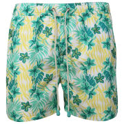 Oiler & Boiler Men's Classic Swim Short - Green Floral