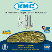 KMC X9 Light Chain - 116 Links - Gold