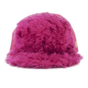 House of Holland New Era Women's Stiff Front Fur Cap - Pink