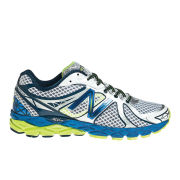 New Balance Men's M870WB3 Stability Running Shoes - White/Blue