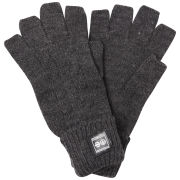 Crosshatch Men's Fishline Fingerless Gloves - Charcoal Marl