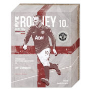 Manchester United Rooney Retro - 50 x 40cm Canvas