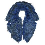 Urbancode Faux Fur Lapel Collar - Royal Blue