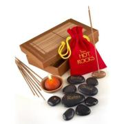 Hot Rocks Gift Set with Candle