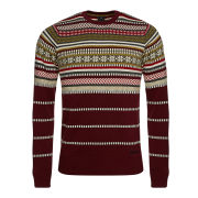Bench Men's Karibou Crew Neck Knit - Zinfandel Burgundy