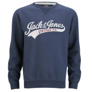 Jack & Jones Vintage Men's Access Sweatshirt - Navy