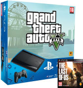 PS3: New Sony PlayStation 3 Slim Console (500 GB) - Black - Includes - The Last of Us and GTA V