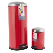 Cook In Colour Soft Close Pedal Bins (30L and 5L) - Red