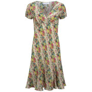 Edina Ronay Women's Exclusive Rose Print X Front Bias Dress - Multi