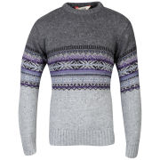 Tokyo Laundry Men's Thelon Crew Neck Knit - Light Grey