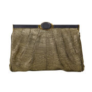 Wilbur & Gussie Exclusive to Harper's Bazaar Magnus Clutch - Black/Gold