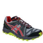 Asics Men's Gel Fuji Trabuco 2 Running Trainers - Grey/Fire Red/Lime