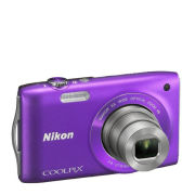 Nikon Coolpix S3300 Compact Digital Camera - Purple (16MP, 6x Optical Zoom, 2.7 Inch LCD)  - Grade A Refurb
