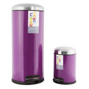 Cook In Colour Soft Close Pedal Bins (30L and 5L) - Purple