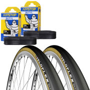Veloflex Master 25 Clincher Road Tyre Twin Pack with 2 Free Inner Tubes - Black 700c x 23mm