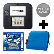 Nintendo 2DS Black/Blue Pokémon Alpha Sapphire Pack