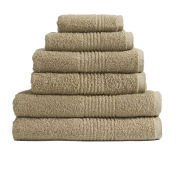 100% Egyptian Cotton 6 Piece Towel Bale (550gsm) - Latte