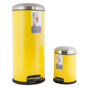 Cook In Colour Soft Close Pedal Bins (30L and 5L) - Yellow