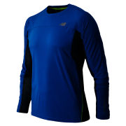 New Balance Men's Running Impact Ice Long Sleeve T-Shirt - Laser Blue/Petrol