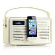View Quest Colourgen Retro Radio and Dock - Cream (8 Pin/Lightning)