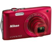 Nikon Coolpix S3200 - Red (16 MP, 6 x Optical Zoom, 2.7 Inch LCD) - Grade A Refurb