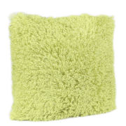Malini Faux Mongolian Cushion - Lime
