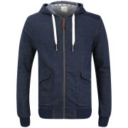Boxfresh Men's Haben Zip Through Sweatshirt - Navy